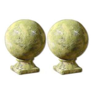 Accessories and Clocks Marian, Round Finial, Set/2 Furniture & Decor