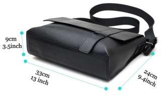 Nappa Leather Black Messenger Shoulder Crossbody Document Bags