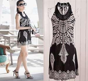Dresses Sexy Ethnic Boho Summer Mini Dress Clubwear Bohemian Totem