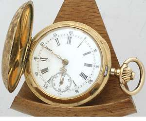 Victorian 14ct rose gold ladies full hunter fob watch, pocket watch