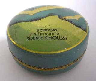 SUPERB FRENCH TIN ART DECO BONBONS CHOUSSY TINY