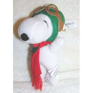 Peanuts 6 Plush Snoopy Flying Ace Pilot Christmas