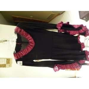 Girls Black Red Dress Costume