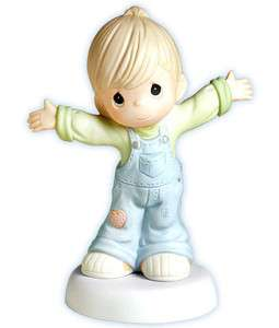 New PRECIOUS MOMENTS Figurine I LOVE YOU THIS MUCH Porcelain