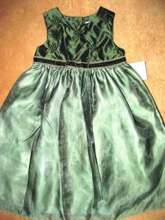 GOOD LAD Empire Waist Full Skirt Special Occasion Holiday Green Dress