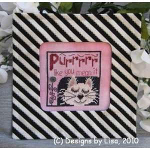 SYHO Purr Like You Mean It   Cross Stitch Pattern: Arts