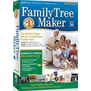 Family Tree Maker Version 16 Essential Sb Cs Software