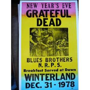 Grateful Dead Playing on New Years Eve with the Blues Brothers Poster