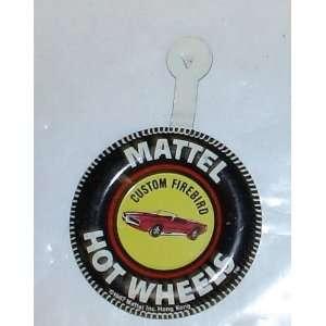 Vintage 1967 Mattel Hot Wheels Badge  Custom Firebird