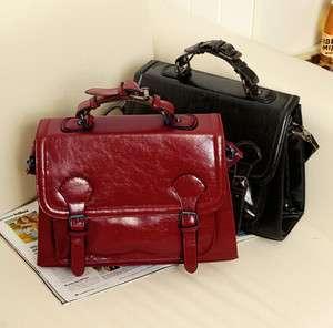 Fashion zipper PU leather Lady Tote brief case shoulder bag purse