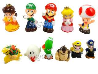 Nintendo Super Mario Brothers Luigi Bowser Yoshi 11 Figures Set