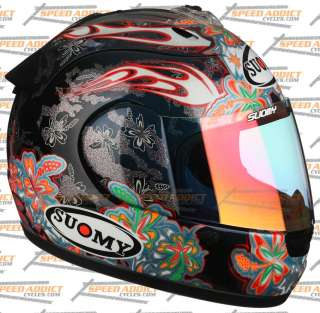 Suomy Spec 1R Extreme Black Flowers Full Face Helmet SM