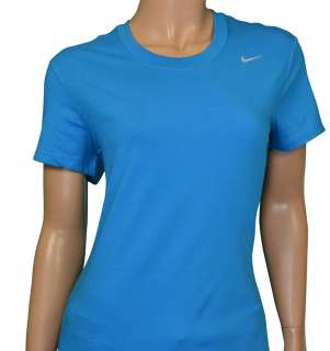 Nike Womens Dri Fit Cotton Training T Shirt Blue