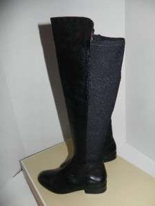 NEW Michael Kors Bromley Black Stretch Leather Boots Shoes size 5.5, 6