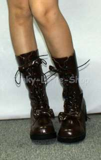 Punk Rock Emo Gothic Brown boots shoes US 5.5   10.5