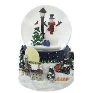 Personalized Large Snowman Snow Globe Christmas Ornament