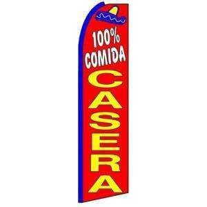 100% Comida Casera (Home Food) Swooper Flag: Office