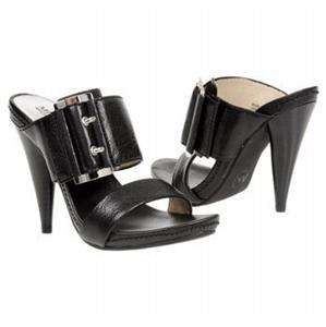 NIB MICHAEL KORS CAMDEN BLACK BUCKLED SLIDES 6 6.5 7
