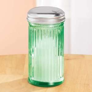 Green Glass Sugar Dispenser Home & Kitchen