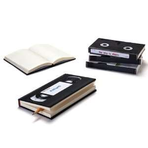 Retro Style VHS Video Tape Lined Notebook Diary Journal:
