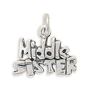 Sterling Silver Middle Sister Charm West Coast Jewelry