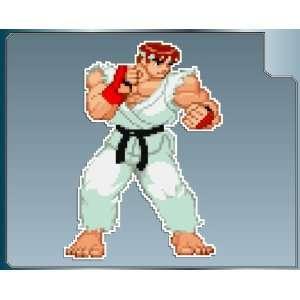 RYU sprite from Street Fighter vinyl decal sticker #1 4