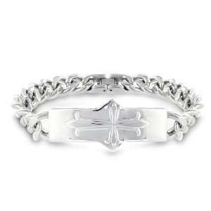 Steel Chain Bracelet with Medieval Cross West Coast Jewelry Jewelry