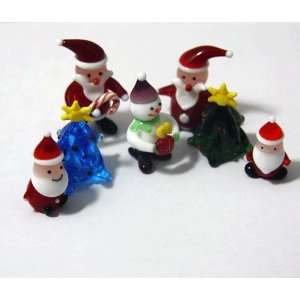 Christmas Holiday Collection   Hand Blown Glass Figurines