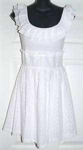 Candies Womens Junior White Eyelit Dress Sz 3, 5, 7, 11