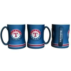 Texas Rangers Coffee Mug   15oz Sculpted Sports