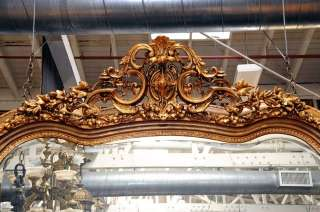 7084 Antique French Gilt Mirror with Spectacular Shape