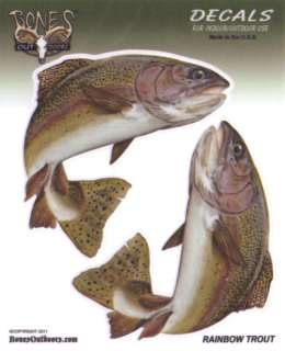 Rainbow Trout Decals Bumper Stickers Gifts Fishing Fisherman Right