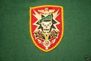 VIETNAM MAC V SOG SPECIAL FORCES COLOUR CLOTH PATCH
