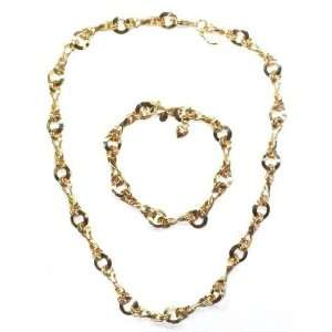 Kirks Folly Goldtone Chain of Love Necklace & Bracelet Set