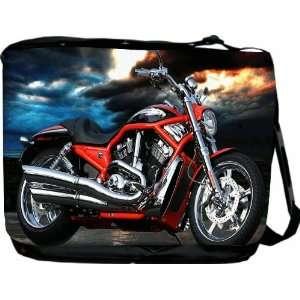 Rikki KnightTM Motorcycle Design Messenger Bag   Book Bag