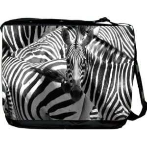 Rikki KnightTM Zebras Design Messenger Bag   Book Bag