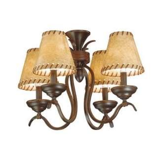 NEW 4 Light Rustic Mini Chandelier OR Ceiling Fan Lighting Kit