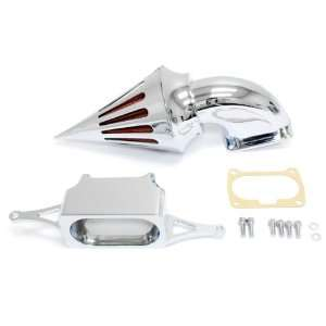 Quality Chrome Billet Aluminum Cone Spike Air Cleaner Kit Intake
