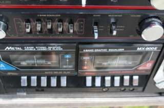 Vintage 80s Tecsonic MX 900E Ghettoblaster Boombox EXTREMELY Rare