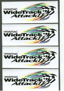 PONTIAC GRAND PRIX WIDE TRACK RACING DECALS STICKERS