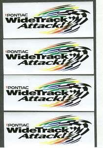 PONTIAC GRAND PRIX WIDE TRACK RACING DECALS STICKERS