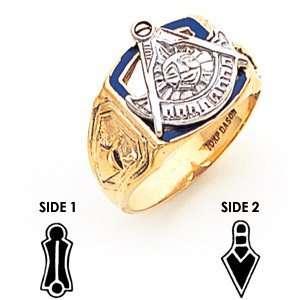 Past Master Mason Ring   10k Gold/10kt yellow gold