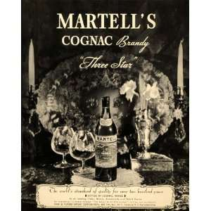 1934 Ad Martells Cognac Brandy 3 Star Park Tilford   Original Print