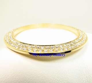 18K SOLID GOLD DIAMOND BEZEL FR ROLEX YACHTMASTER WATCH