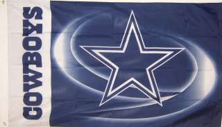COWBOYS STAR NEW 3ftx5ft LISCENSED NFL STORE FOOTBALL BANNER FLAG