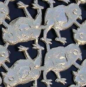 baby CHICKS Gold Foil Paper Victorian Scrap Art Die Cut Dresden