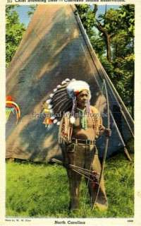 NC CHIEF STANDING DEER, CHEROKEE INDIAN RESERVATION
