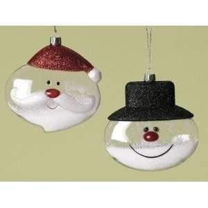 12 Ho Ho Holiday Santa Claus and Snowman Snow Globe Christmas