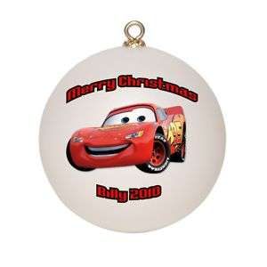 Personalized Lightning McQueen Christmas Ornament