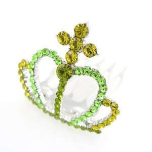 Green Swarovski Crystal Mini Tiara Comb 1.5 Wide Beauty